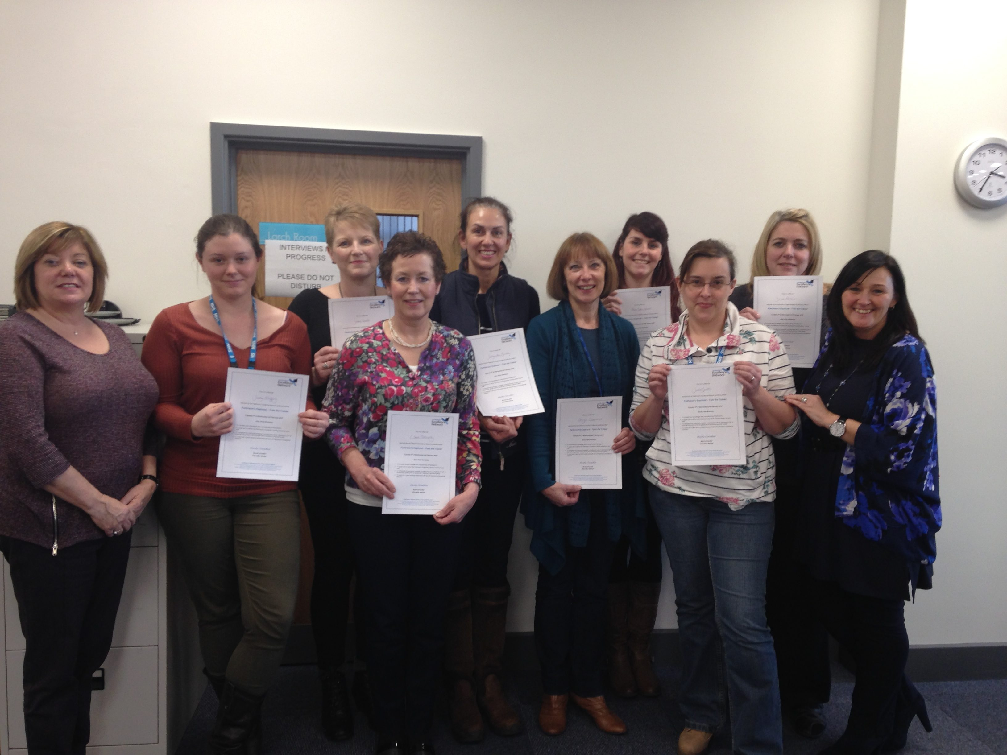 Parkinson's Excellence trainers hit their century of staff trained!! featured image