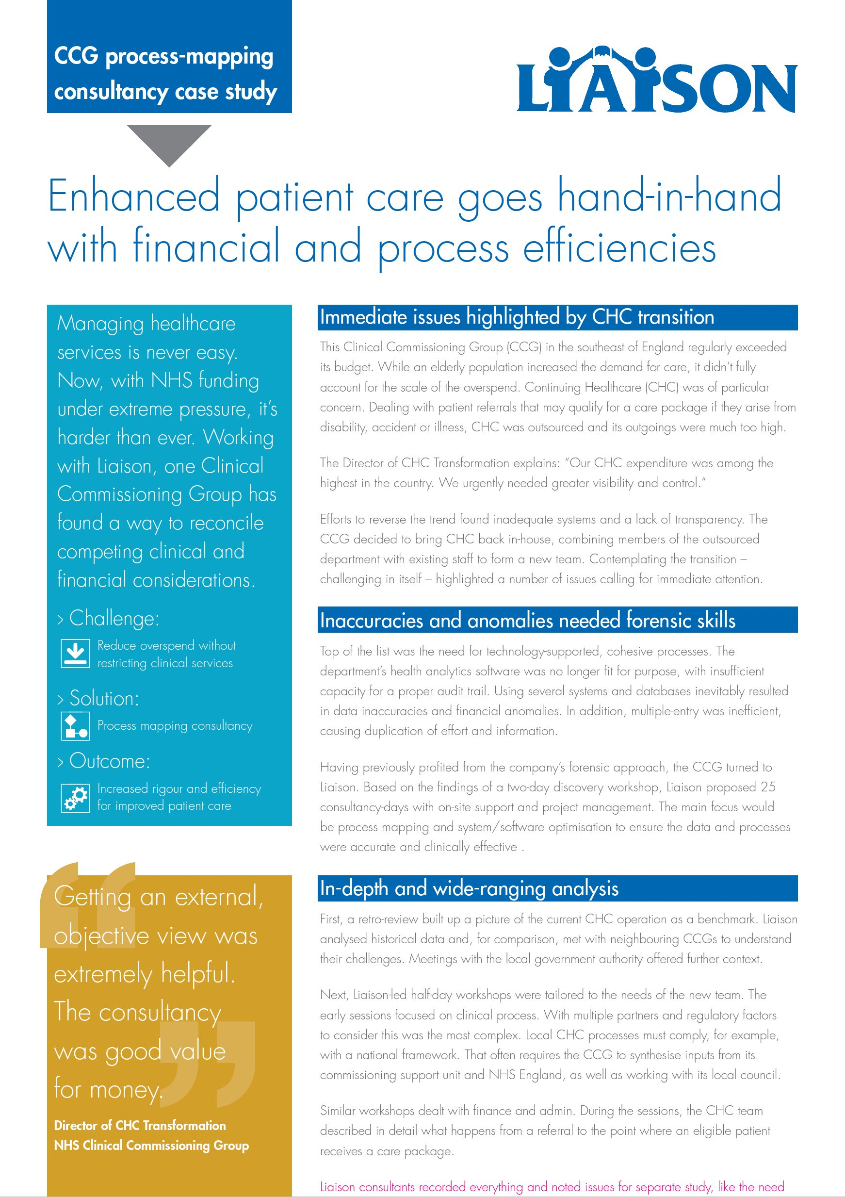CCG process-mapping consultancy case study | Fab NHS Stuff