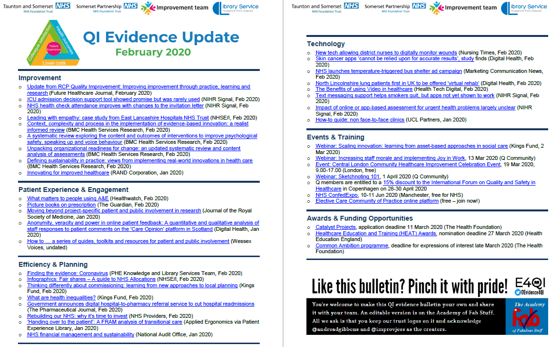 QI Evidence Update - February 2020 featured image