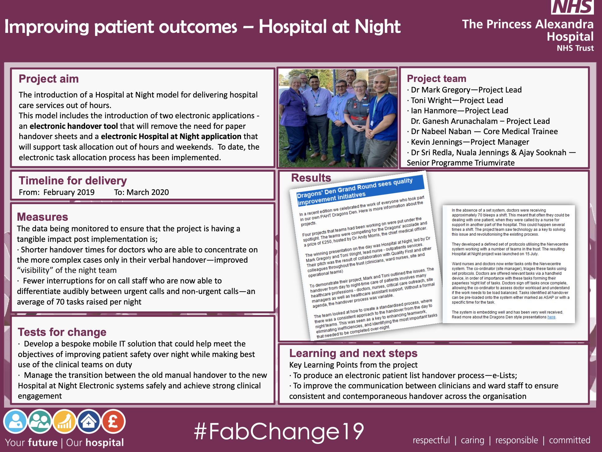 PAHT - Improving Patient Outcomes = Hospital At Night - @QualityFirstPAH featured image