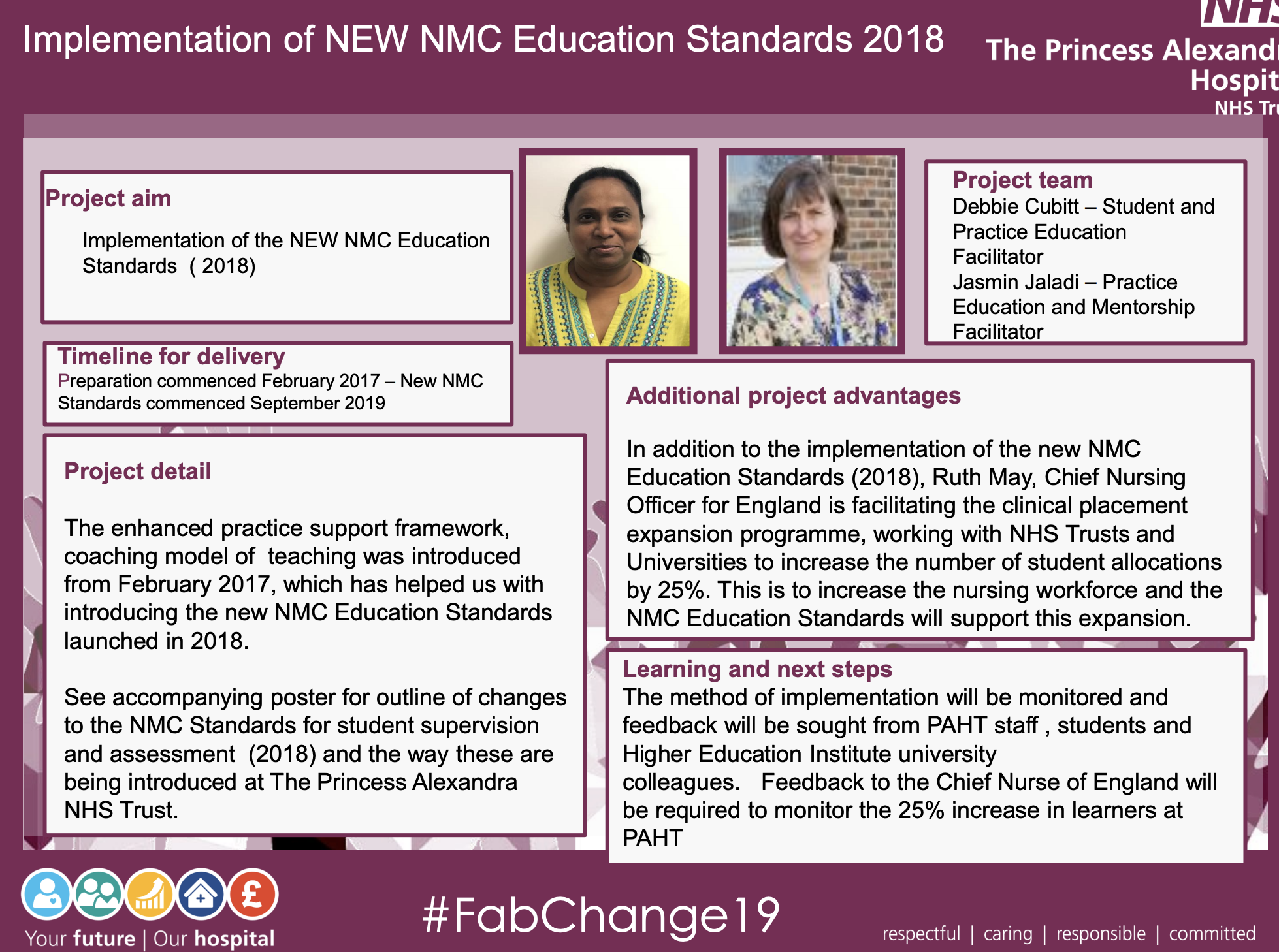 PAHT - Implementation of NEW NMC Education Standards 2018 - @QualityFirstPAH featured image