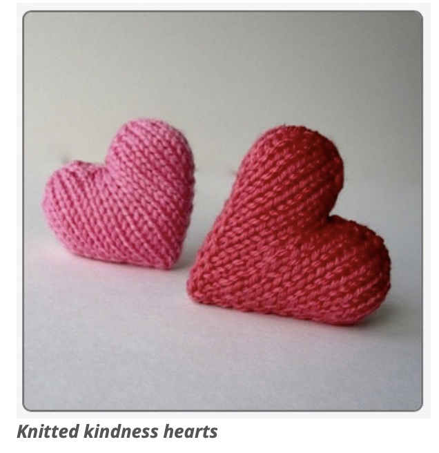 Knitted kindness hearts to be gifted to patients and their families featured image