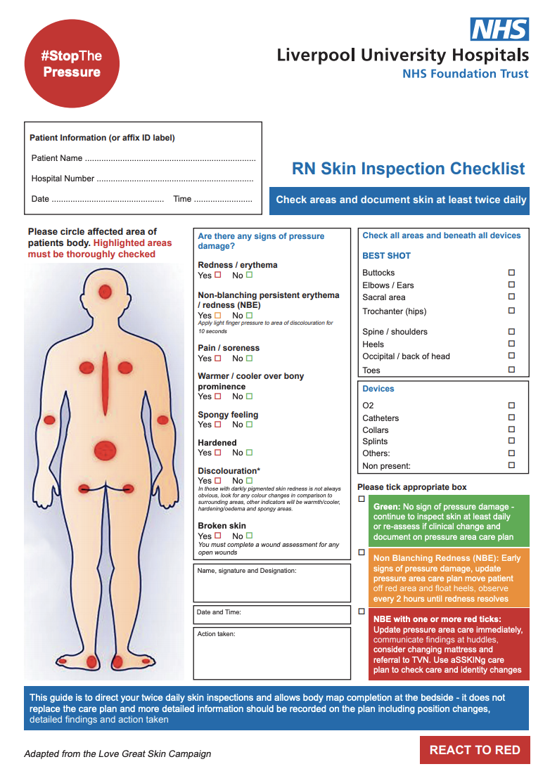 Pressure Ulcer Prevention in the acute setting, increasing registered nurse skin inspections featured image